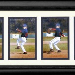 (#7) 4  4X6 prints in black wood frame $70.00