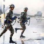'92 L.A. Riots - 2 Soldiers Running